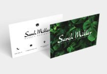Free Botanical Business Card Template