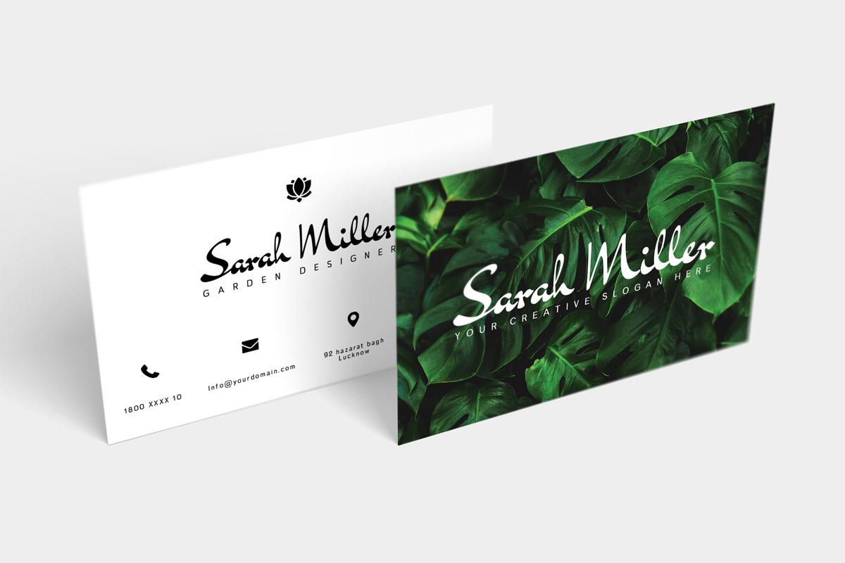 Free Botanical Business Card Template