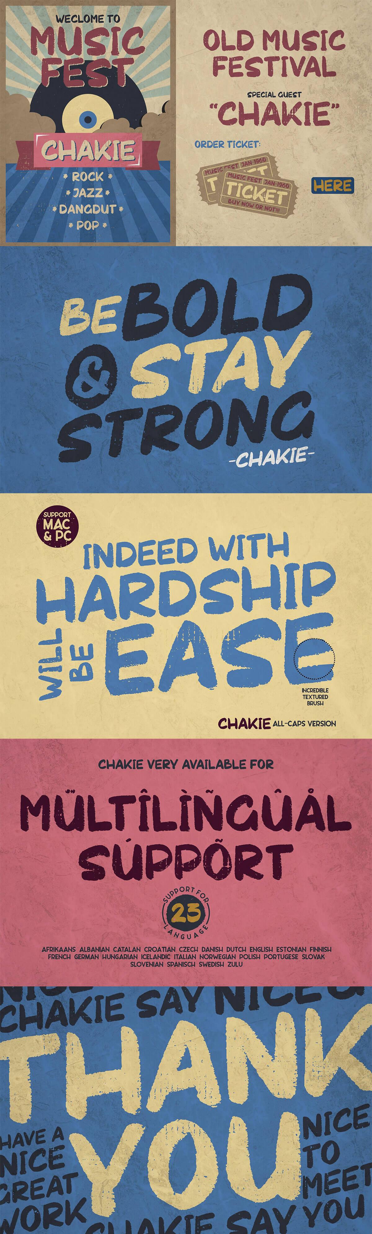 Free Chakie Retro Brush Font