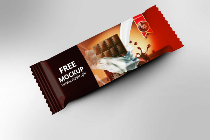 Free Chocolate Bar Mockup PSD
