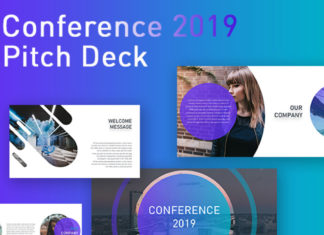Free Conference Pitch Deck Powerpoint Template