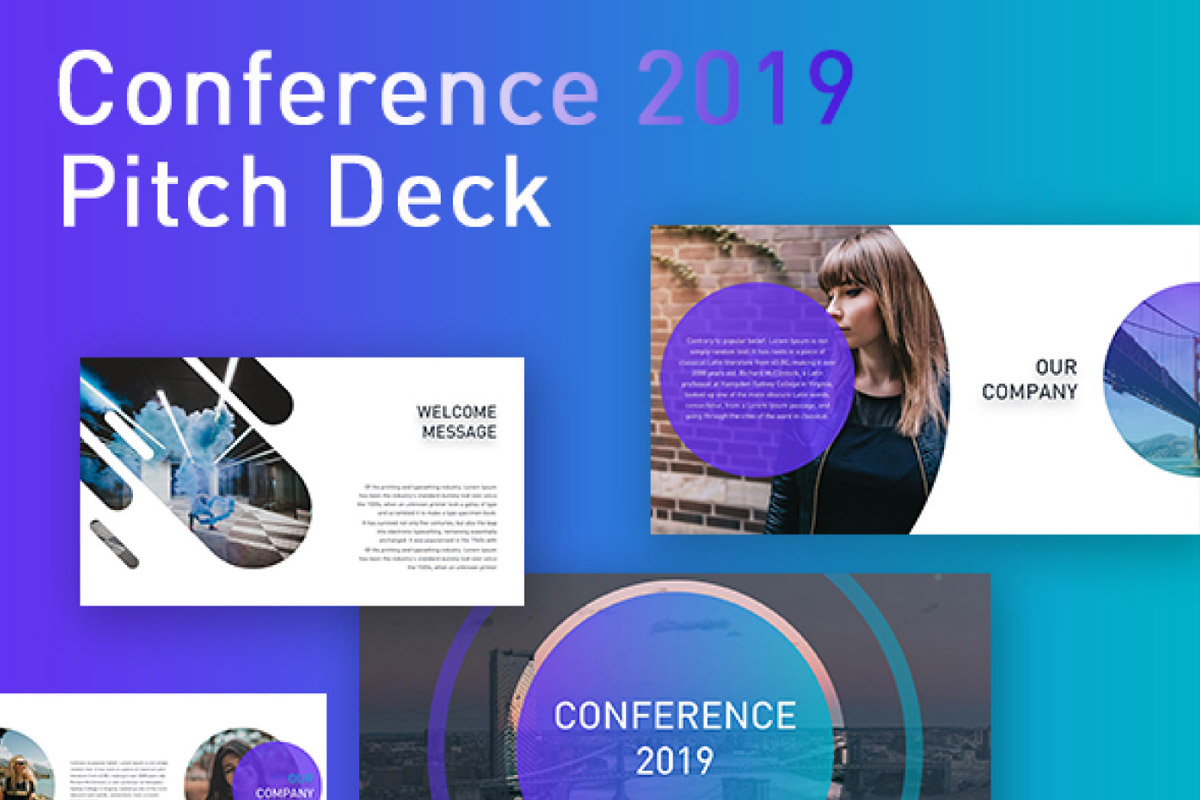 Free Conference Pitch Deck Powerpoint Template - Creativetacos