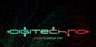 Free Digitechno Display Font