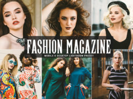 Free Fashion Magazine Lightroom Preset