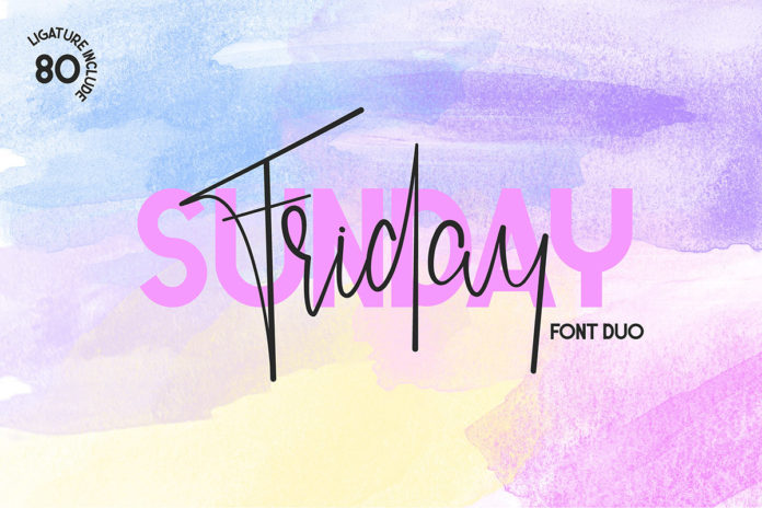 Free Friday Sunday Font Duo