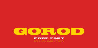 Free Gorod Display Font