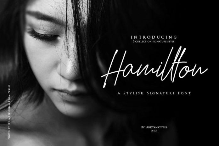 Free Hamillton Signature Font