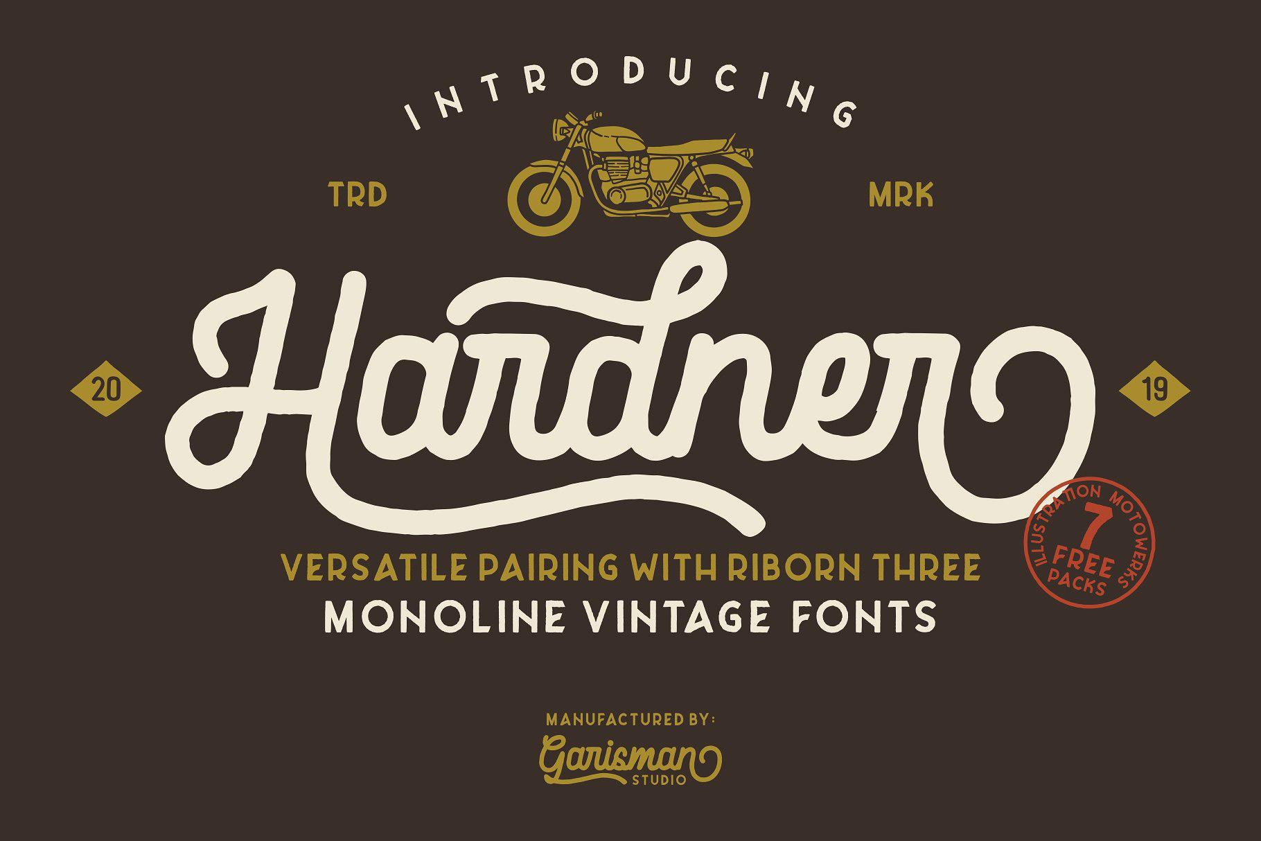 Free Hardner Retro Script Font - Creativetacos
