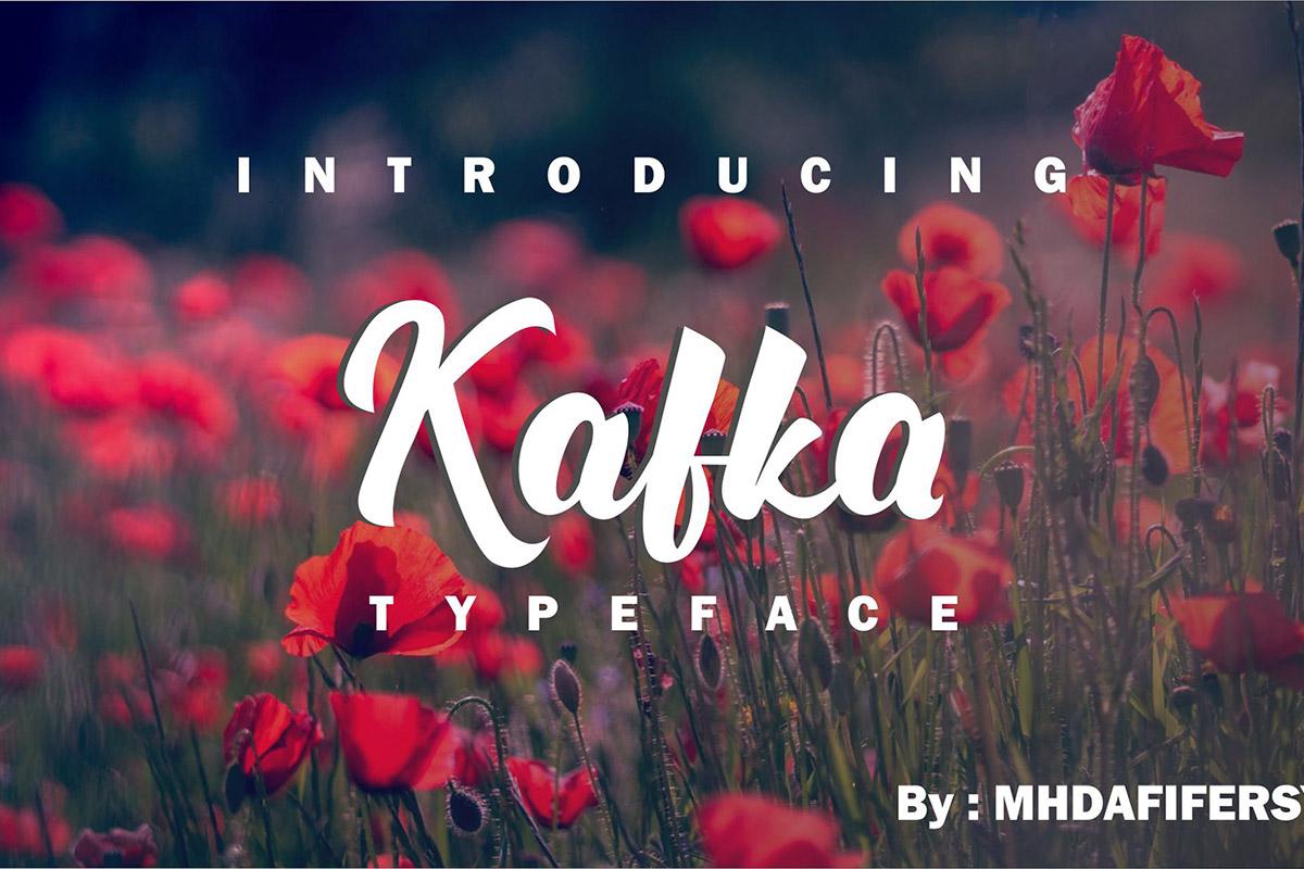 Free Kafka Script Font