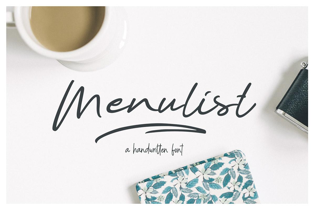 Free Menulist Script Font
