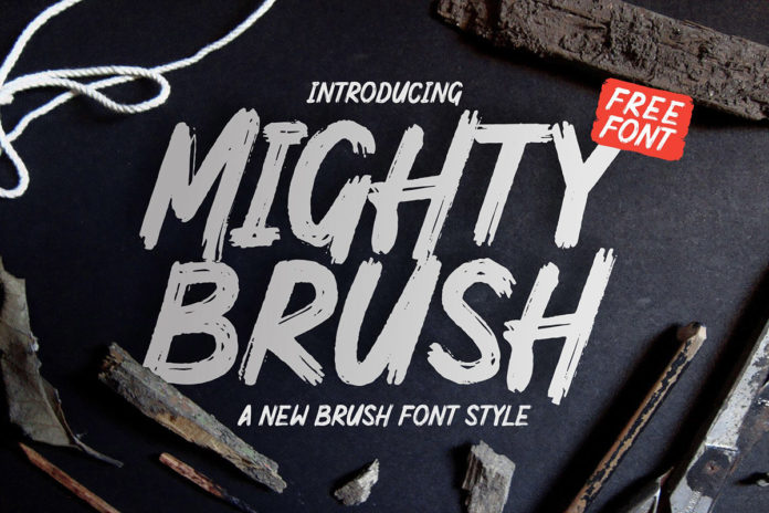 Free Mighty Brush Font