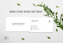 Free Minimal Elegance Business Card Template
