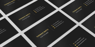 Free Minimalistic Business Card Template