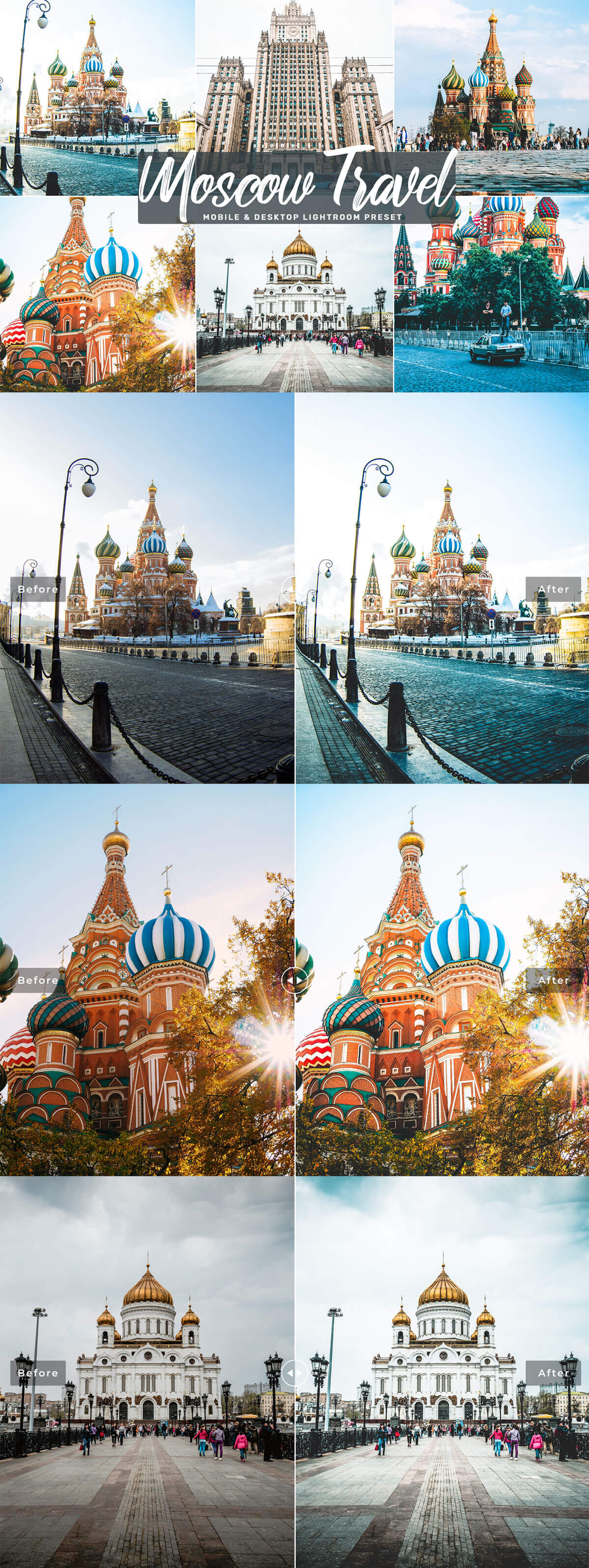 Free Moscow Travel Lightroom Presets