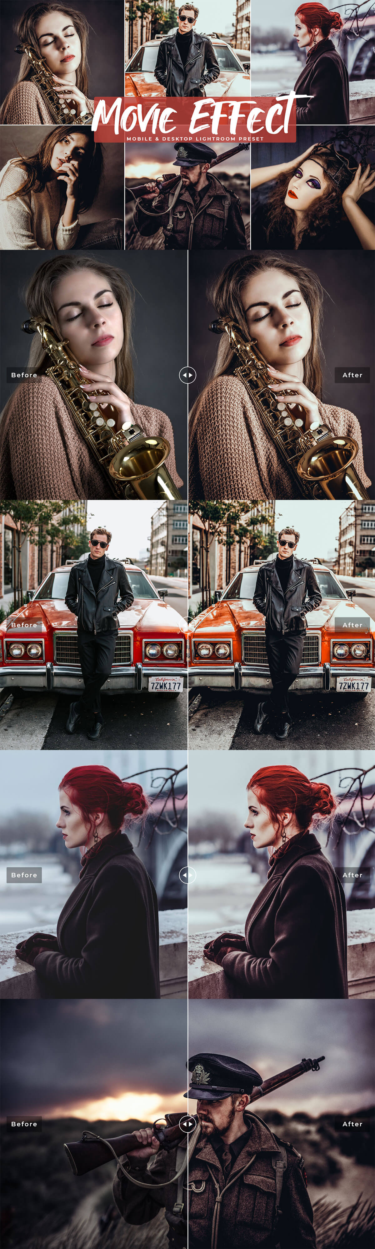 Free Movie Effect Lightroom Presets