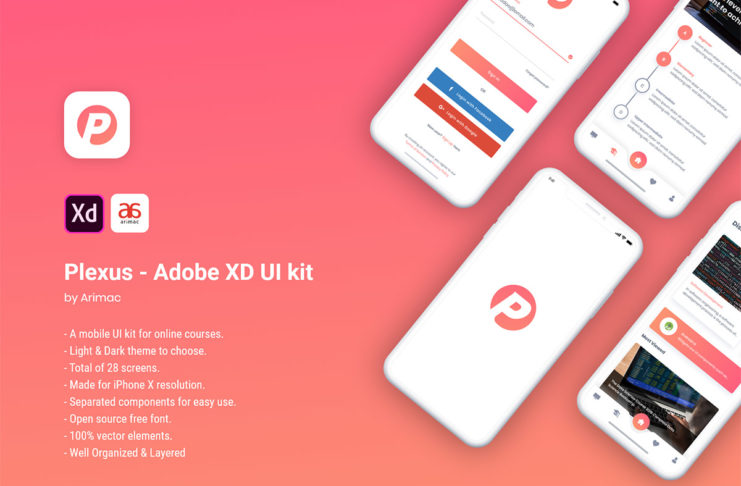 Free Plexus Adobe XD UI Kit