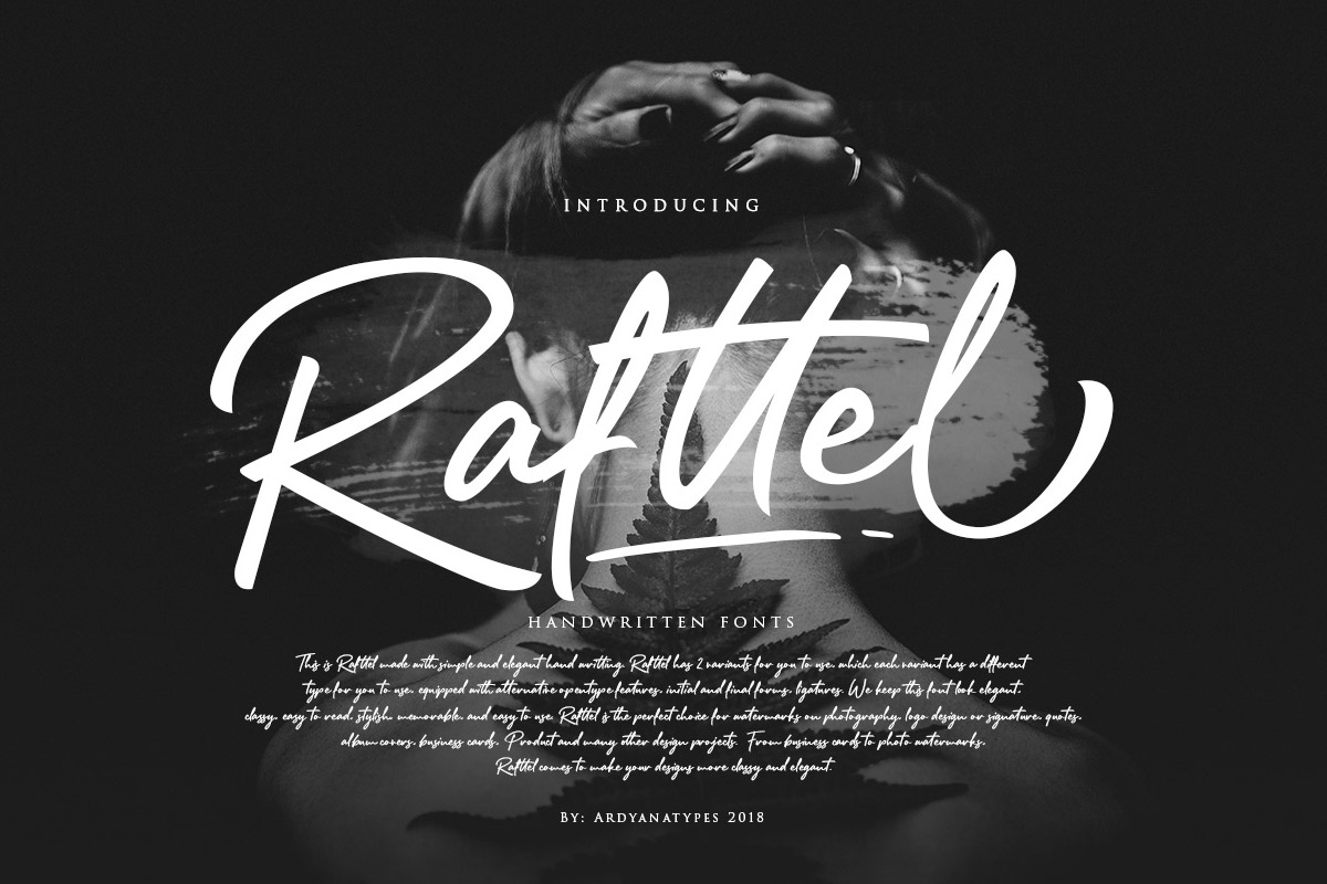 Free Rafttel Handwritting Font