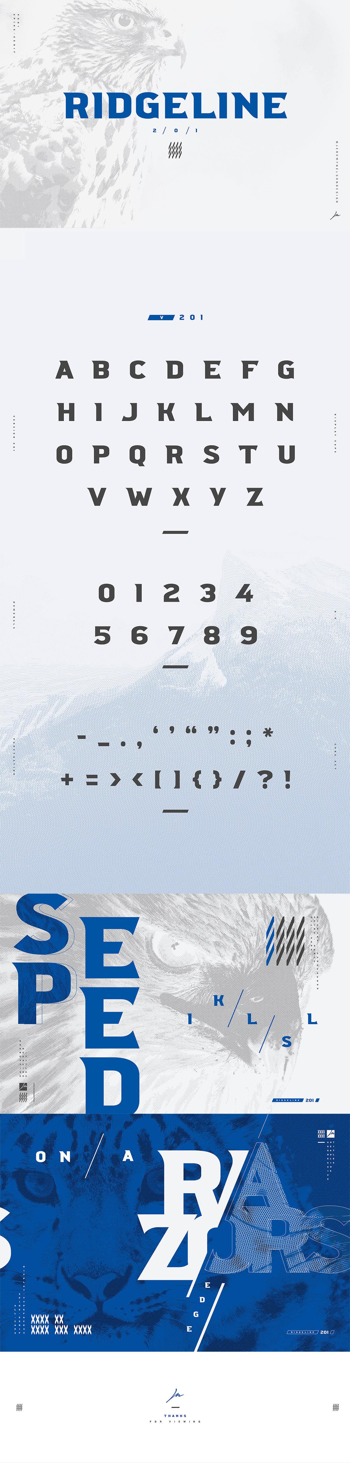 Free Ridgeline 201 Display Font