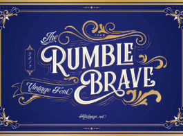Free Rumble Brave Display Font