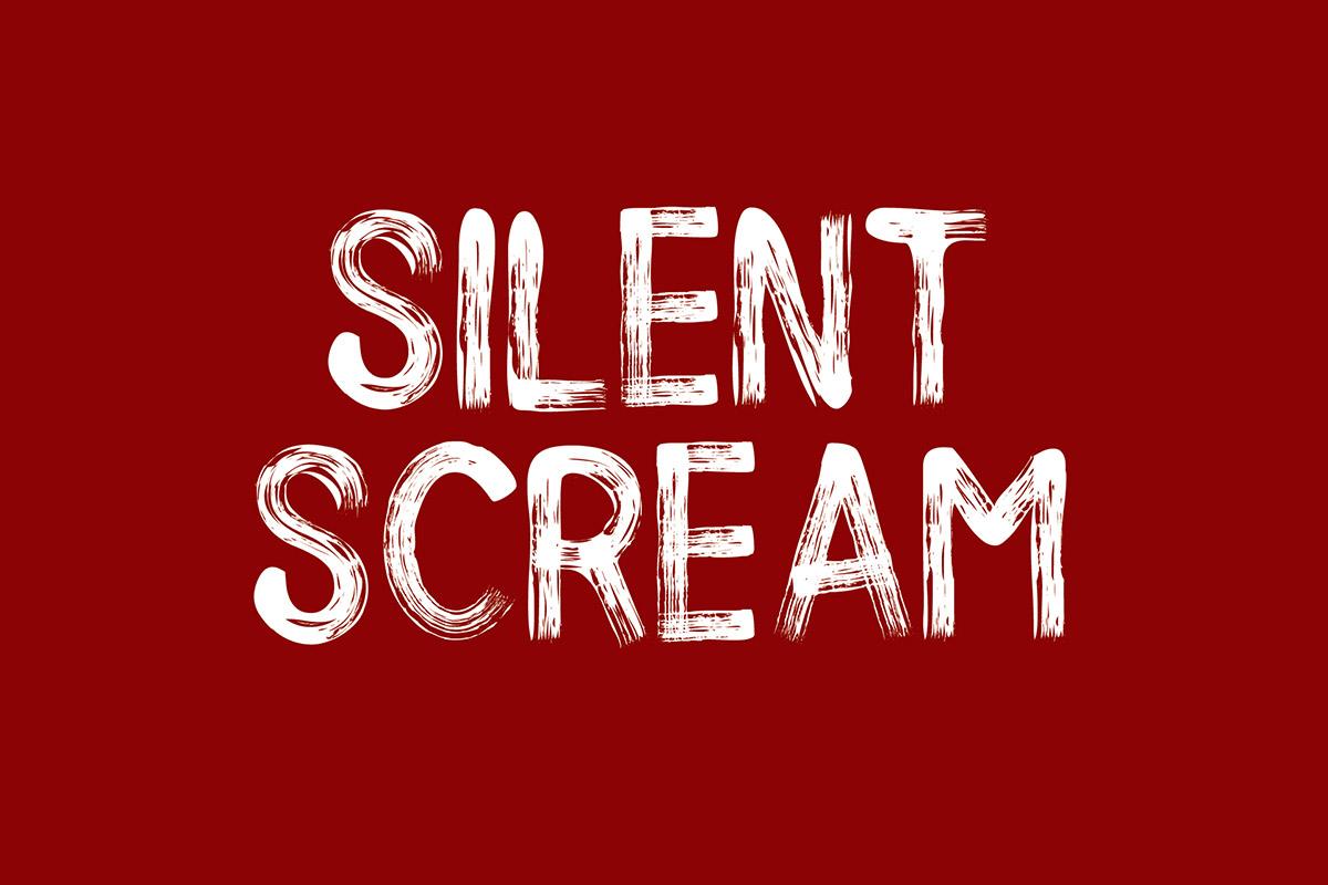 free silent scream brush font family