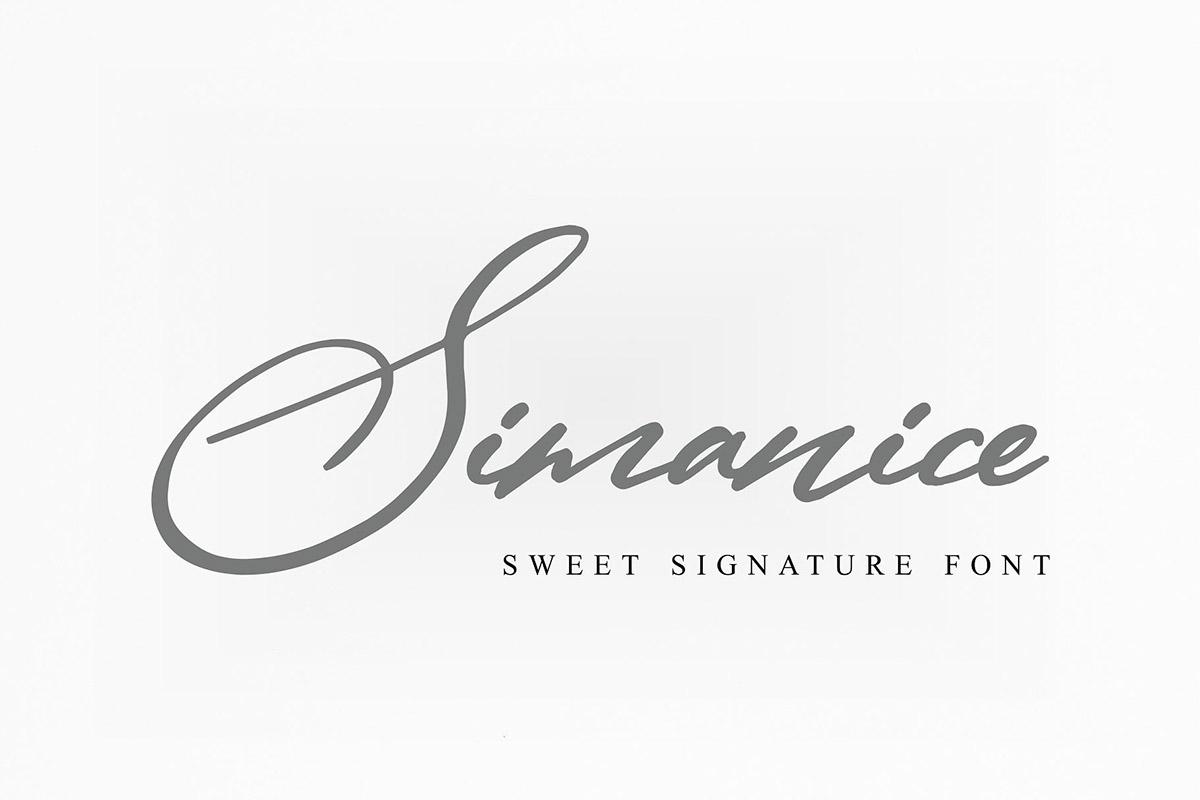 Free Simanice Signature Font