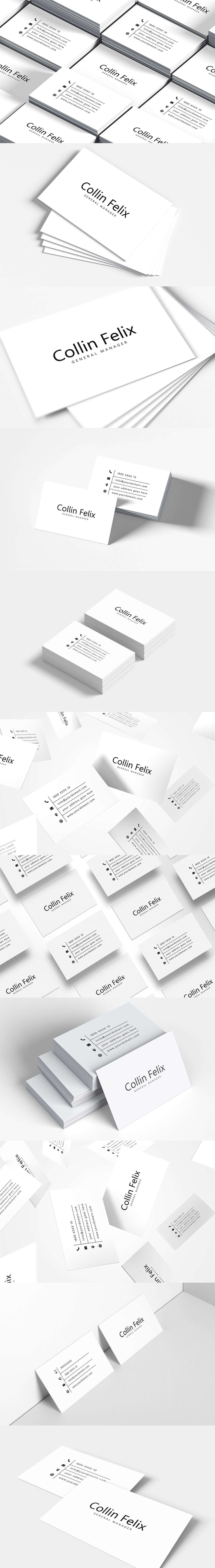 Free Simple Individual Business Card Template