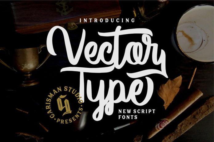 Free Vector Type Script Font