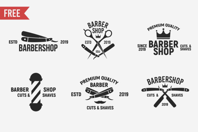 Free Vintage Barbershop Logo Templates