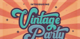 Free Vintage Party Display Font