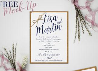 Free Wedding Invitation Mockup