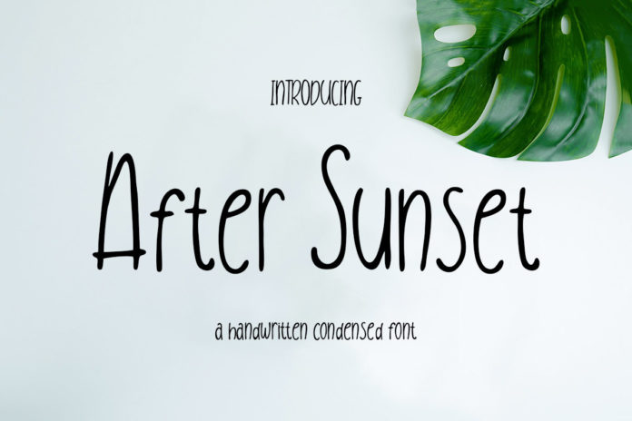 Free After Sunset Condensed Handwritten Font