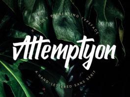 Free Attemptyon Sans Serif Font
