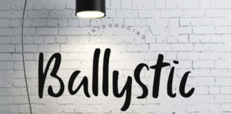 Free Ballystic Handwriting Font