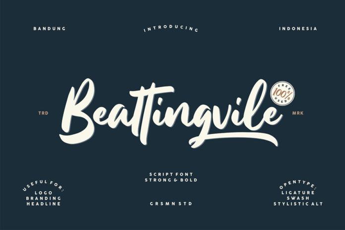 Free Beattingvile Script Font