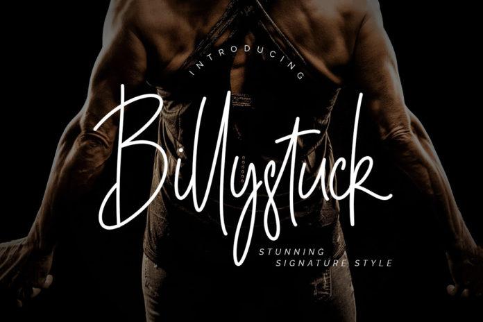 Free Billystuck Signature Font