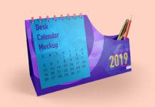 Free Calendar Desk Mockups