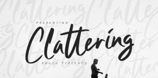 Free Clattering Brush Font