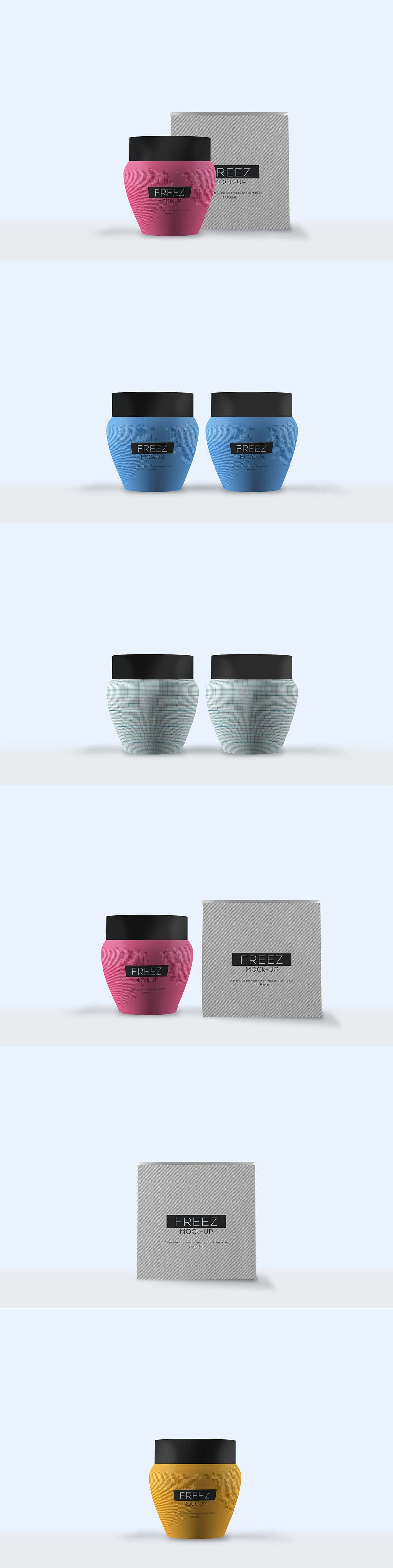 Free Cosmetics Cream Packaging Mockup