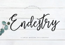 Free Endestry Modern Calligraphy Font