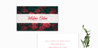 Free Minimal Floral Business Card Template