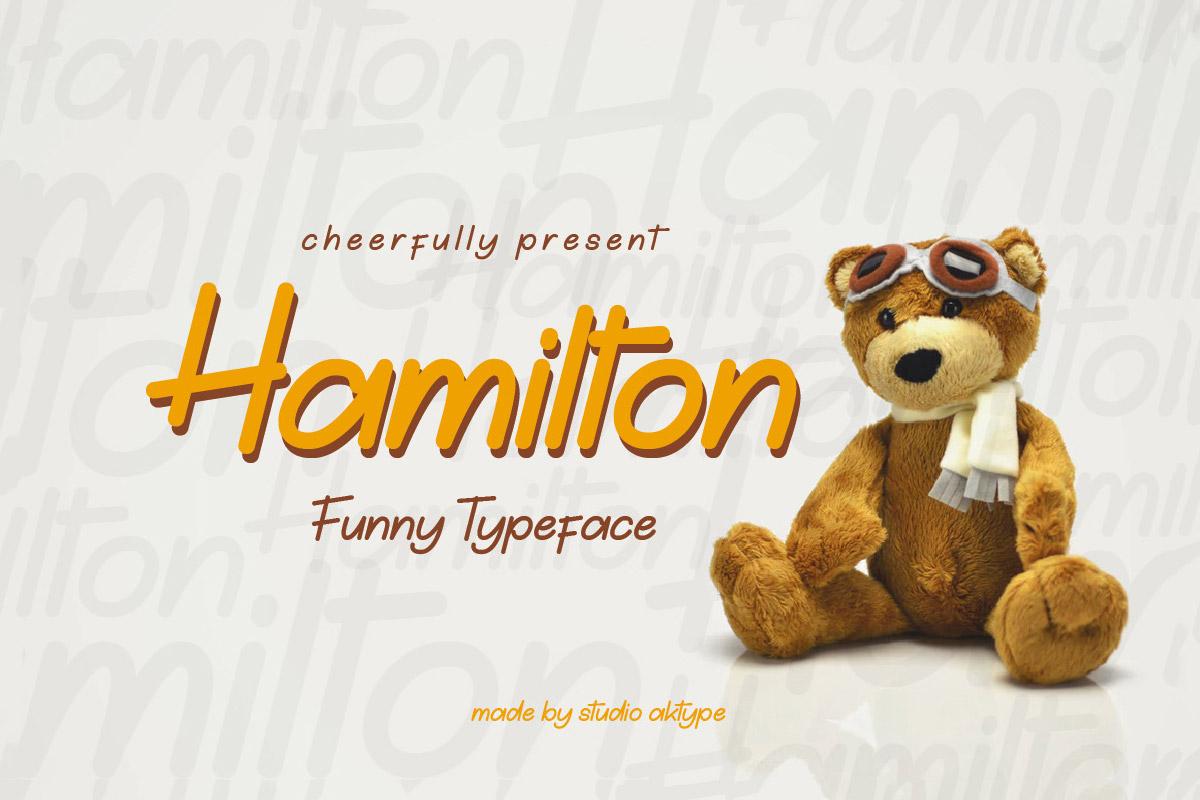 Free Hamilton Funny Font