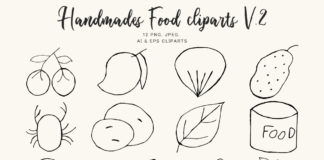 Free Handmade Food Clipart Ver. 2
