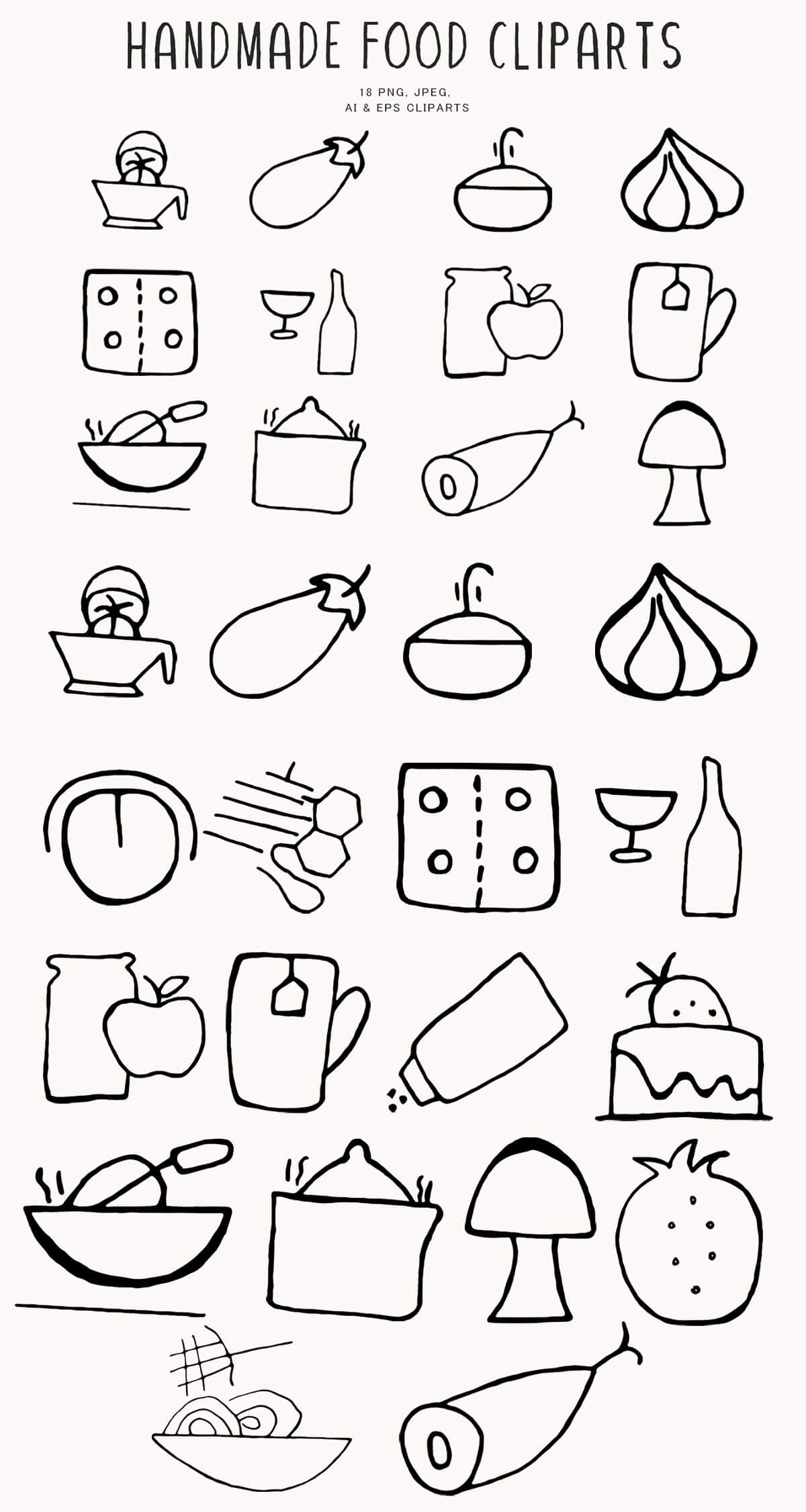 Free Handmade Food Clipart