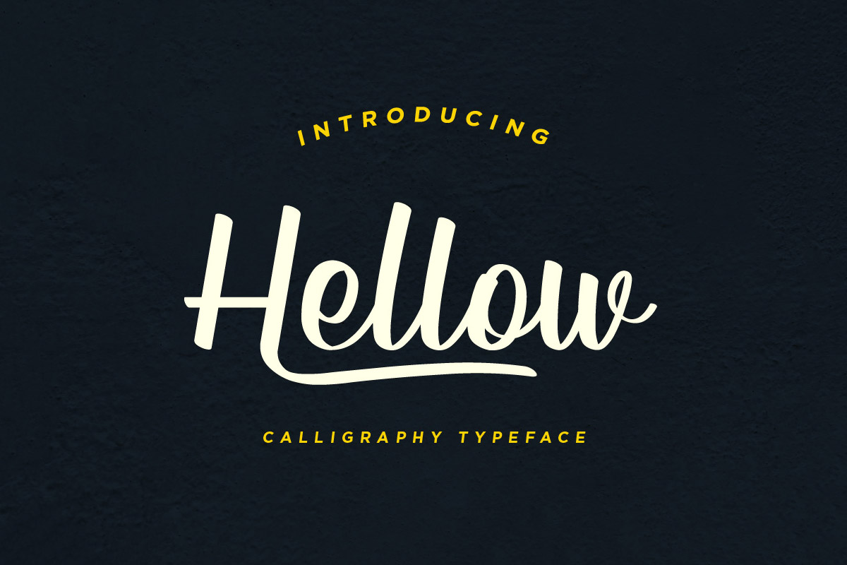 Free Hellow Calligraphy Font
