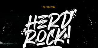 Free Herdrock Brush Font