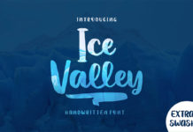 Free Ice Valley Handwritten Font