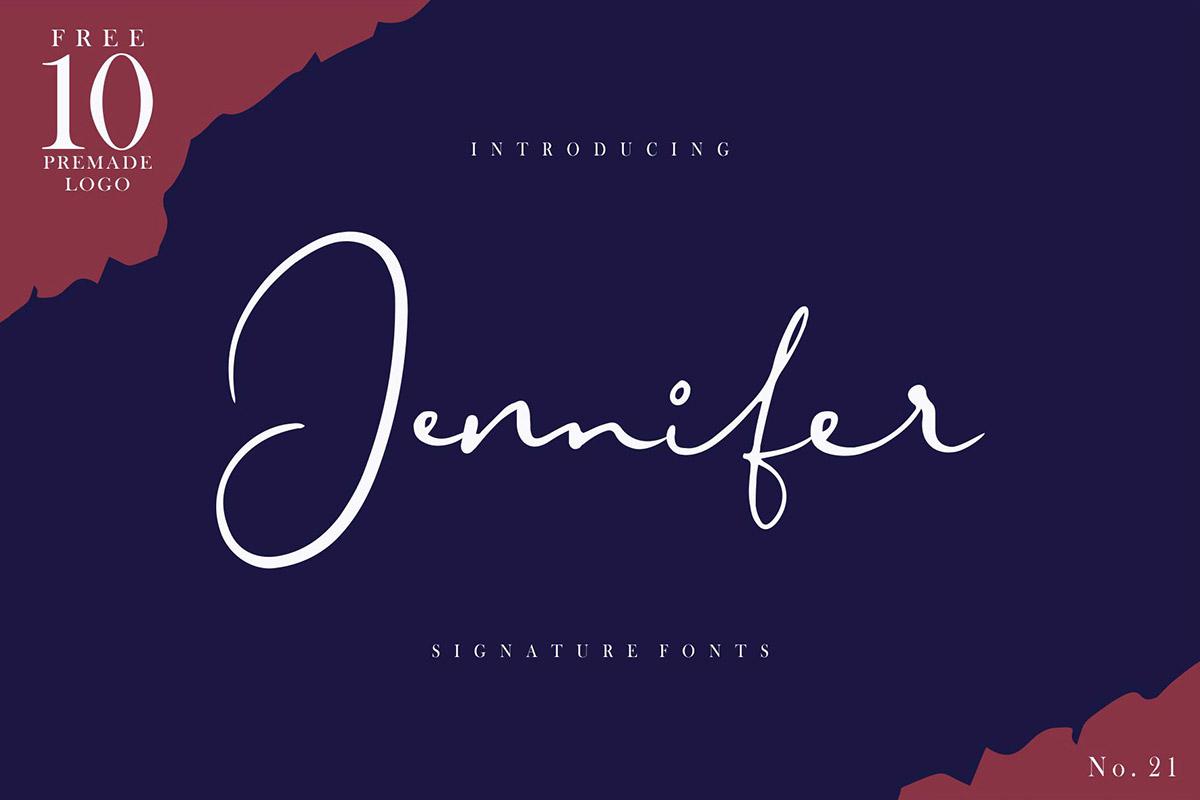 Free Jennifer Signature Font