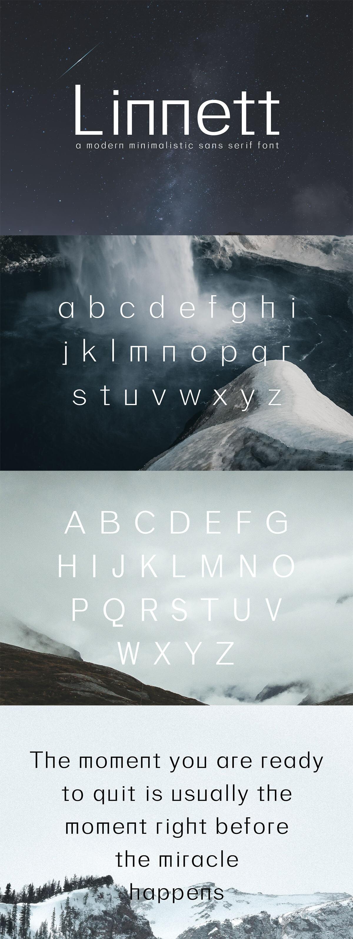 Free Linnett Sans Serif Font