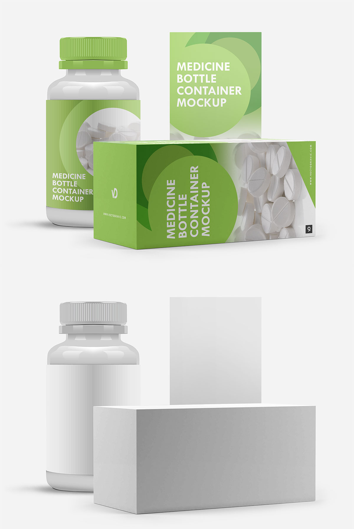 Free Medicine Bottle Container Mockup