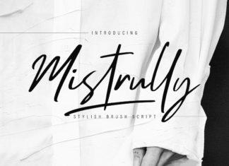 Free Mistrully Brush Script Font